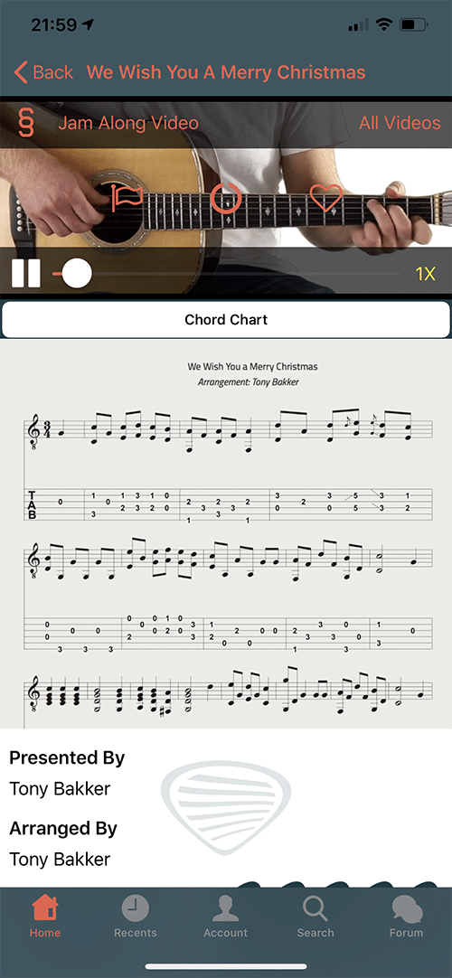 Six String Country App Screen 3