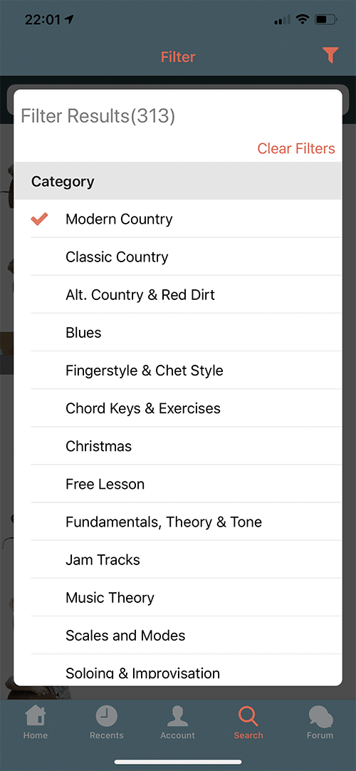 Six String Country App Screen 5