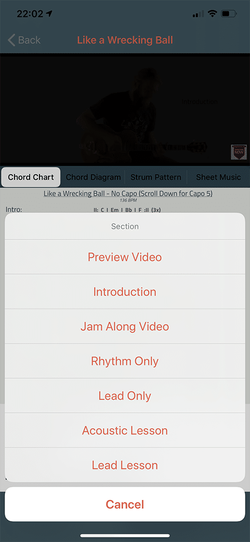 Six String Country App Screen 8