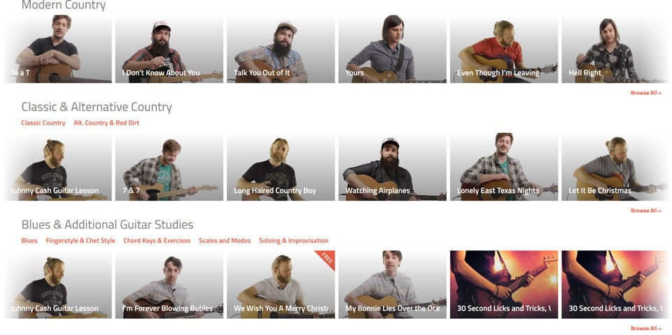 Six String Country Site Screen 1