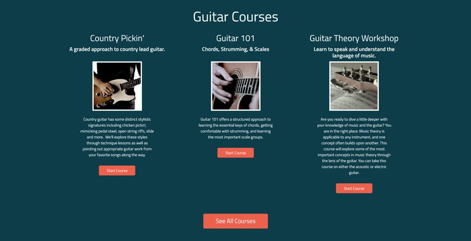 Six String Country Site Screen 3