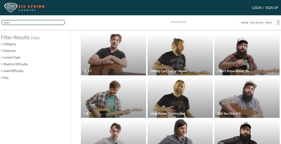 Six String Country Site Screen 2