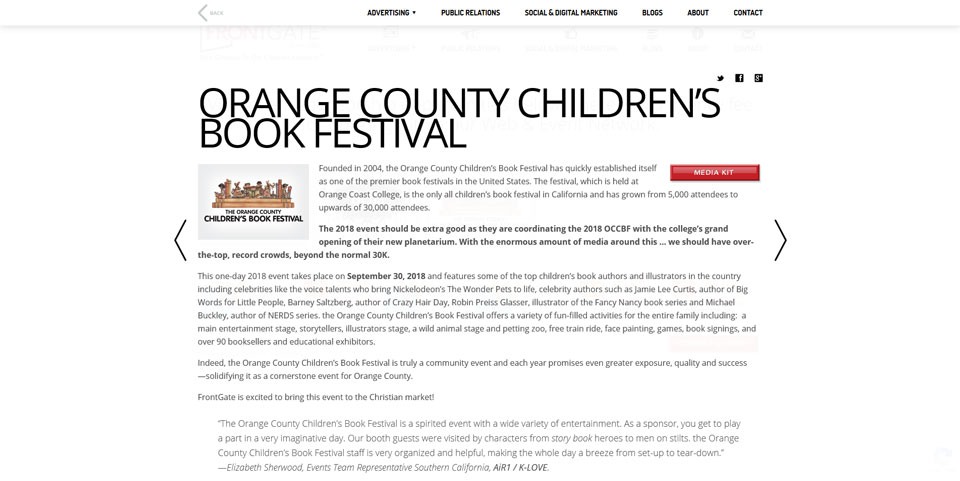Orange Country Children's Book Festival