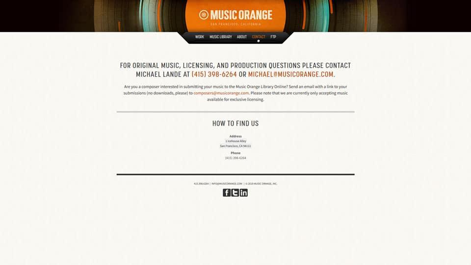 Music Orange Contact