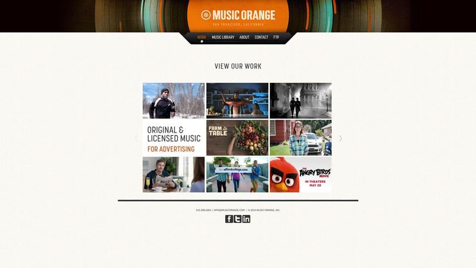 Music Orange Home