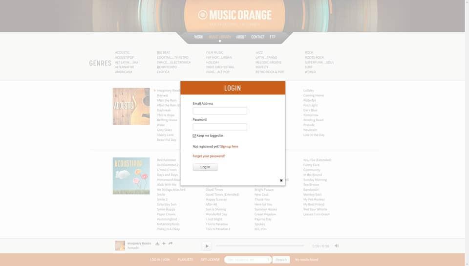 Music Orange Login