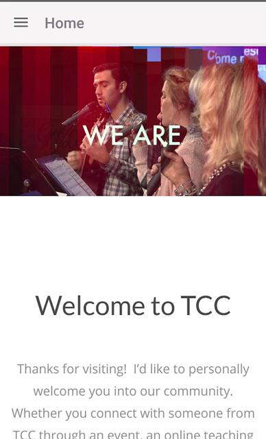TCC APP Screen 2